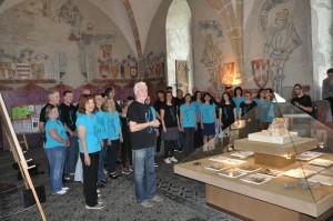 ..vystoupení v Rytířském sále Prácheňského  muzea